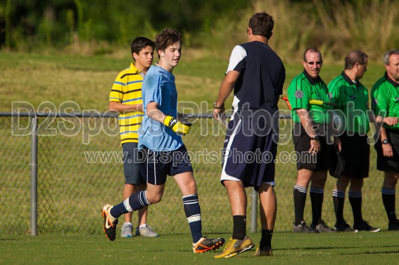 Mt Tabor Spartans vs RJR Demons Men's Varsity Soccer<br /> Forsyth Cup Soccer Tournament Consolation Match<br /> Saturday, August 24, 2013 at West Forsyth High School<br /> Clemmons, North Carolina<br /> (file 175639_BV0H3817_1D4)