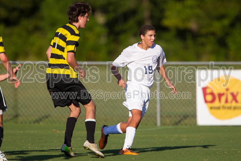 Mt Tabor Spartans vs RJR Demons Men's Varsity Soccer<br /> Forsyth Cup Soccer Tournament Consolation Match<br /> Saturday, August 24, 2013 at West Forsyth High School<br /> Clemmons, North Carolina<br /> (file 183049_BV0H3977_1D4)