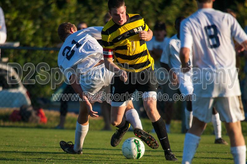 Mt Tabor Spartans vs RJR Demons Men's Varsity Soccer<br /> Forsyth Cup Soccer Tournament Consolation Match<br /> Saturday, August 24, 2013 at West Forsyth High School<br /> Clemmons, North Carolina<br /> (file 185646_QE6Q1086_1D2N)
