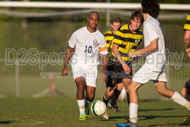 Mt Tabor Spartans vs RJR Demons Men's Varsity Soccer<br /> Forsyth Cup Soccer Tournament Consolation Match<br /> Saturday, August 24, 2013 at West Forsyth High School<br /> Clemmons, North Carolina<br /> (file 185728_BV0H4072_1D4)