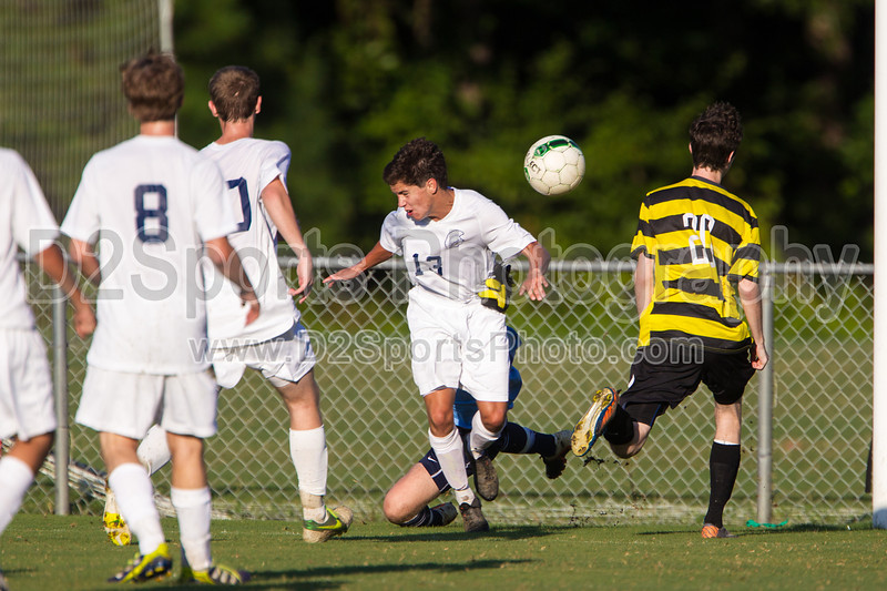 Mt Tabor Spartans vs RJR Demons Men's Varsity Soccer<br /> Forsyth Cup Soccer Tournament Consolation Match<br /> Saturday, August 24, 2013 at West Forsyth High School<br /> Clemmons, North Carolina<br /> (file 183445_BV0H3996_1D4)