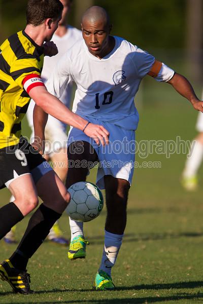 Mt Tabor Spartans vs RJR Demons Men's Varsity Soccer<br /> Forsyth Cup Soccer Tournament Consolation Match<br /> Saturday, August 24, 2013 at West Forsyth High School<br /> Clemmons, North Carolina<br /> (file 183608_BV0H4010_1D4)
