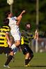Mt Tabor Spartans vs RJR Demons Men's Varsity Soccer<br /> Forsyth Cup Soccer Tournament Consolation Match<br /> Saturday, August 24, 2013 at West Forsyth High School<br /> Clemmons, North Carolina<br /> (file 190102_BV0H4096_1D4)