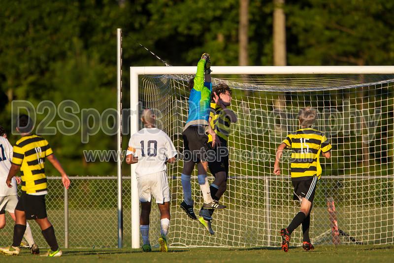 Mt Tabor Spartans vs RJR Demons Men's Varsity Soccer<br /> Forsyth Cup Soccer Tournament Consolation Match<br /> Saturday, August 24, 2013 at West Forsyth High School<br /> Clemmons, North Carolina<br /> (file 191048_BV0H4159_1D4)
