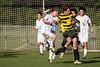 Mt Tabor Spartans vs RJR Demons Men's Varsity Soccer<br /> Forsyth Cup Soccer Tournament Consolation Match<br /> Saturday, August 24, 2013 at West Forsyth High School<br /> Clemmons, North Carolina<br /> (file 183047_BV0H3976_1D4)