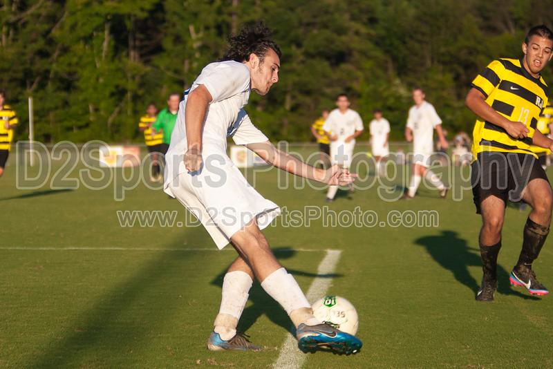 Mt Tabor Spartans vs RJR Demons Men's Varsity Soccer<br /> Forsyth Cup Soccer Tournament Consolation Match<br /> Saturday, August 24, 2013 at West Forsyth High School<br /> Clemmons, North Carolina<br /> (file 190848_803Q4531_1D3)