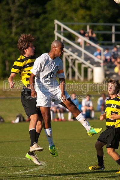 Mt Tabor Spartans vs RJR Demons Men's Varsity Soccer<br /> Forsyth Cup Soccer Tournament Consolation Match<br /> Saturday, August 24, 2013 at West Forsyth High School<br /> Clemmons, North Carolina<br /> (file 182228_803Q4475_1D3)