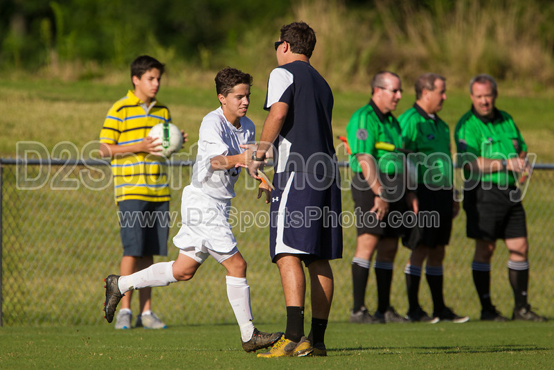 Mt Tabor Spartans vs RJR Demons Men's Varsity Soccer<br /> Forsyth Cup Soccer Tournament Consolation Match<br /> Saturday, August 24, 2013 at West Forsyth High School<br /> Clemmons, North Carolina<br /> (file 175630_BV0H3815_1D4)