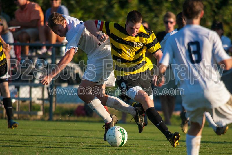 Mt Tabor Spartans vs RJR Demons Men's Varsity Soccer<br /> Forsyth Cup Soccer Tournament Consolation Match<br /> Saturday, August 24, 2013 at West Forsyth High School<br /> Clemmons, North Carolina<br /> (file 185645_QE6Q1085_1D2N)