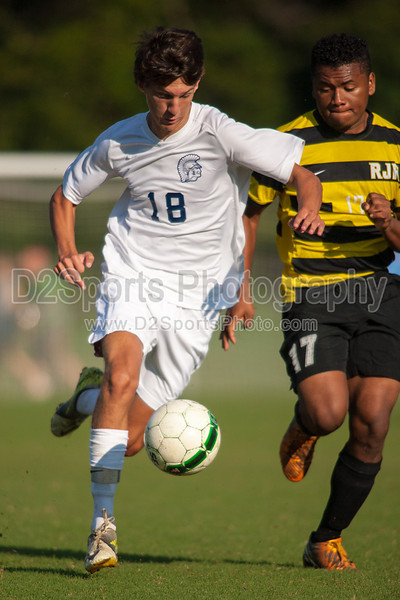 Mt Tabor Spartans vs RJR Demons Men's Varsity Soccer<br /> Forsyth Cup Soccer Tournament Consolation Match<br /> Saturday, August 24, 2013 at West Forsyth High School<br /> Clemmons, North Carolina<br /> (file 180246_QE6Q0990_1D2N)
