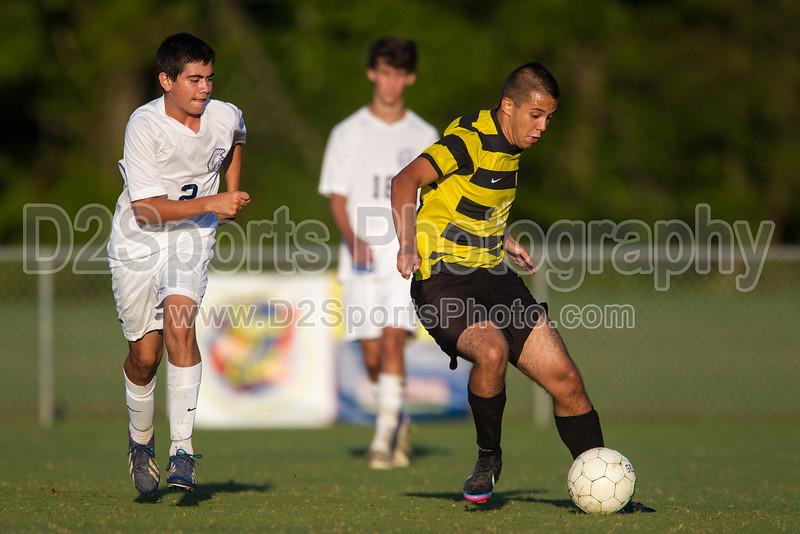 Mt Tabor Spartans vs RJR Demons Men's Varsity Soccer<br /> Forsyth Cup Soccer Tournament Consolation Match<br /> Saturday, August 24, 2013 at West Forsyth High School<br /> Clemmons, North Carolina<br /> (file 190229_BV0H4111_1D4)