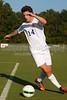 Mt Tabor Spartans vs RJR Demons Men's Varsity Soccer<br /> Forsyth Cup Soccer Tournament Consolation Match<br /> Saturday, August 24, 2013 at West Forsyth High School<br /> Clemmons, North Carolina<br /> (file 181603_803Q4455_1D3)