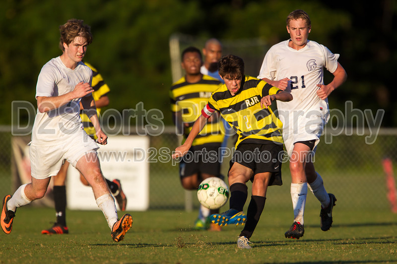 Mt Tabor Spartans vs RJR Demons Men's Varsity Soccer<br /> Forsyth Cup Soccer Tournament Consolation Match<br /> Saturday, August 24, 2013 at West Forsyth High School<br /> Clemmons, North Carolina<br /> (file 190935_BV0H4156_1D4)