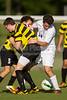 Mt Tabor Spartans vs RJR Demons Men's Varsity Soccer<br /> Forsyth Cup Soccer Tournament Consolation Match<br /> Saturday, August 24, 2013 at West Forsyth High School<br /> Clemmons, North Carolina<br /> (file 180140_BV0H3839_1D4)