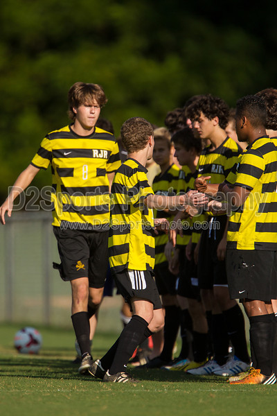 Mt Tabor Spartans vs RJR Demons Men's Varsity Soccer<br /> Forsyth Cup Soccer Tournament Consolation Match<br /> Saturday, August 24, 2013 at West Forsyth High School<br /> Clemmons, North Carolina<br /> (file 175541_BV0H3799_1D4)