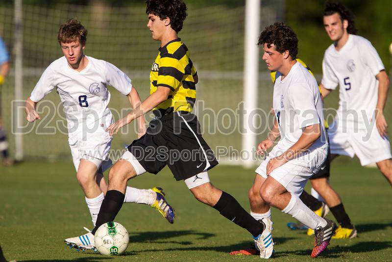 Mt Tabor Spartans vs RJR Demons Men's Varsity Soccer<br /> Forsyth Cup Soccer Tournament Consolation Match<br /> Saturday, August 24, 2013 at West Forsyth High School<br /> Clemmons, North Carolina<br /> (file 182357_BV0H3929_1D4)
