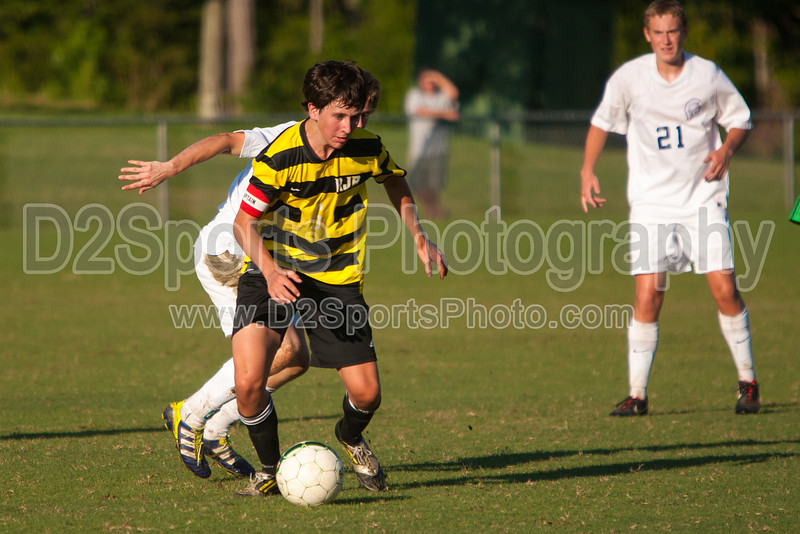 Mt Tabor Spartans vs RJR Demons Men's Varsity Soccer<br /> Forsyth Cup Soccer Tournament Consolation Match<br /> Saturday, August 24, 2013 at West Forsyth High School<br /> Clemmons, North Carolina<br /> (file 182941_803Q4495_1D3)