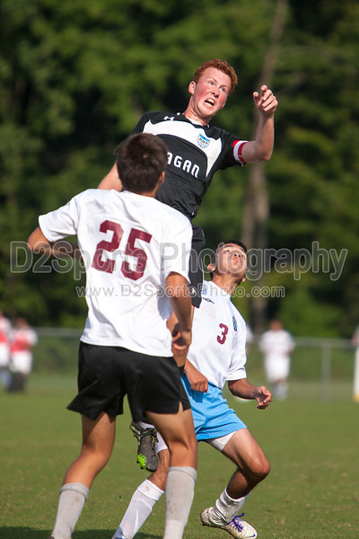 Reagan Raiders vs North Forsyth Vikings Men's Varsity Soccer<br /> Forsyth Cup Soccer Tournament<br /> Friday, August 23, 2013 at West Forsyth High School<br /> Clemmons, North Carolina<br /> (file 172401_803Q4306_1D3)