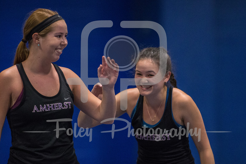April 10,2018; New London, Connecticut, United States;  A NESCAC conference matchup between Amherst College and Connecticut College at Charlest B. Luce Field House. Photo: © Brian Foley for Foley-Photography.com.