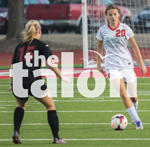The Lady Eagles play Melissa at home on Tuesday, February.  Tuesday,  Feb. at Argyle High School in Argyle, Texas. (Quinn Calendine  / The Talon News)