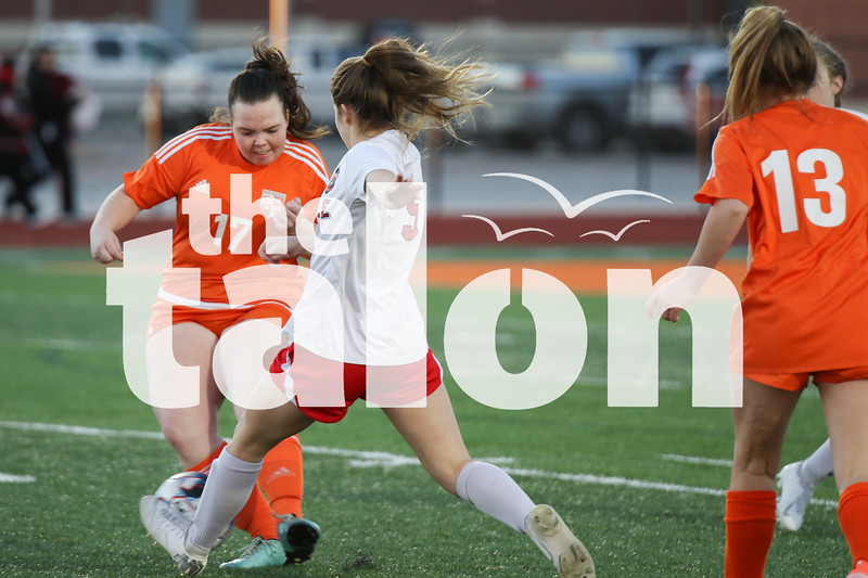 The Lady Eagles play a game against Celina on 1-24-20. (Delaney Lechowit / The Talon News)