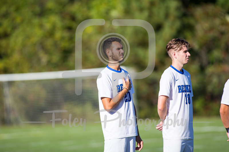 Becker College Hawks defender/midfielder Bryan Vieira (20)