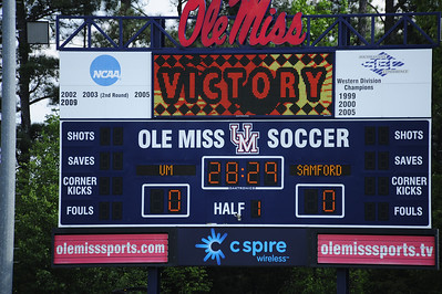 Ole Miss Beats Samford Womens Spring Soccer 2012