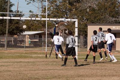 Cesar's free kick over goalies head