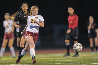 Menlo Atherton High School Girl's Junior Varsity Soccer vs. San Mateo High, February 3, 2015