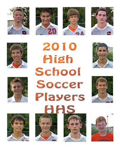 2010 Soccer Player Layout<br /> Yearbook Page