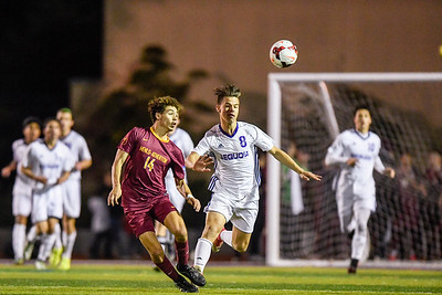 Menlo-Atherton Boys Soccer vs. Sequoia High,  December 13, 2017.