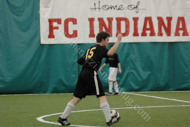 Indoor Soccer<br /> December 15, 2007<br /> Lafayette Sports Center<br /> Innervision vs FC Indiana House Team<br /> Indoor Soccer Match