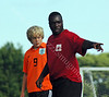 Coaching moment<br /> 2007 <br /> IU Soccer Camp<br /> Bloomington, Indiana<br /> Boys Soccer