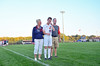 Austin with parents - HHS Soccer Senior Night Recognition - 2013 - Image ID # 1629