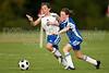 U12 LADY TWINS ROYAL vs LADY TWINS RED 2009 Winston-Salem Twin City Classic Soccer Tournament Friday, August 21, 2009 at BB&T Soccer Park Advance, North Carolina (file 190110_803Q0679_1D3)