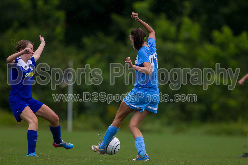 LAKE NORMAN UNITED LEGACY G vs TCYSA LADY TWINS 98 BLUE Winston Salem Twin City Classic Soccer Tournament Saturday, August 17, 2013 at BB&T Soccer Park Advance, North Carolina (file 161156_BV0H0916_1D4)