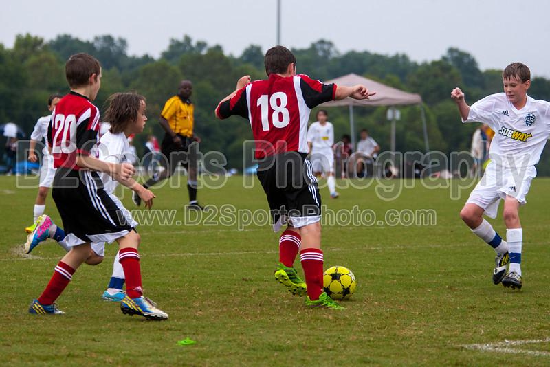 TCYSA TWINS WHITE vs 01 HFC WHITE Winston Salem Twin City Classic Soccer Tournament Saturday, August 17, 2013 at BB&T Soccer Park Advance, North Carolina (file 085736_803Q3430_1D3)