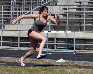 This gal is a Saltfleet student training for hurdles ... she has talent so decided to take some shots.