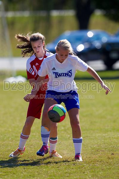 98 Lady Twins Blue vs SCAA Gold G<br /> Saturday, October 13, 2012 at Sara Lee Soccer Complex<br /> Winston Salem, NC<br /> (file 131219_BV0H5044_1D4)