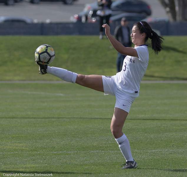 Spring soccer was in bloom on this sunny day when the Huskies took on the UBC Thunderbirds in a game held at Huskie Pitch, UW, Seattle, Washington United States 2018-03-31 By: Natassia Stelmaszek