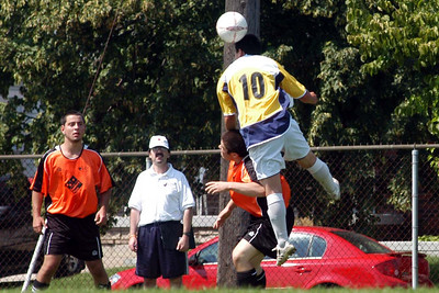Matt gets air, with help from the Ancaster playre's head