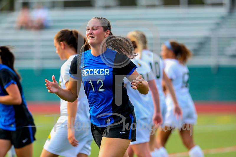 Becker College Hawks midfielder Ciara McKissick (12)