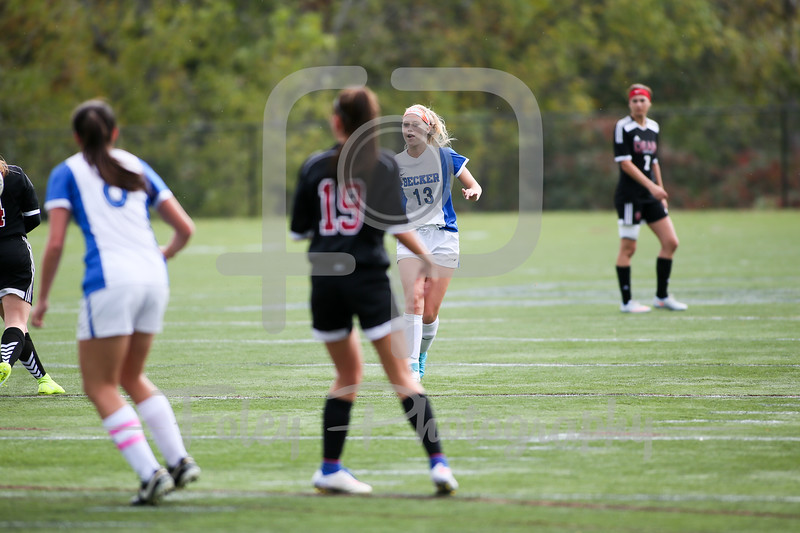 Becker College Hawks defender/midfielder Emily Campbell (13)