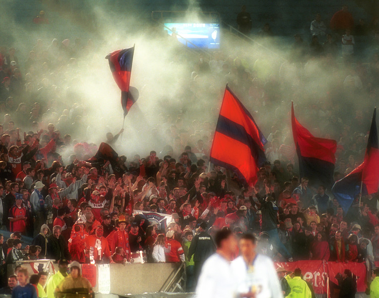 Fans in Soldier Field, Chicago.