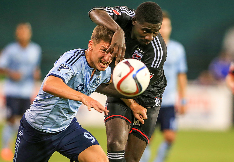 Sporting KC forward Krisztian Nemeth (9), D.C. United defender K