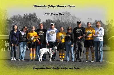 10-22-2011 Senior Day -Julia, Kayla and Paige