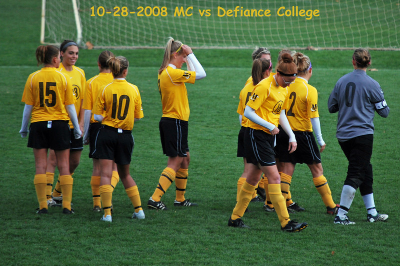 "Team vs Defiance 2008 - Paige Koomler, Allison ""Gangles"" Moore, Sara Olson, Marie H, Kendra Goetz, Paige W, Julia, Stephanie Phillips, Stephanie Taylor and Goalie Erica Hedges"