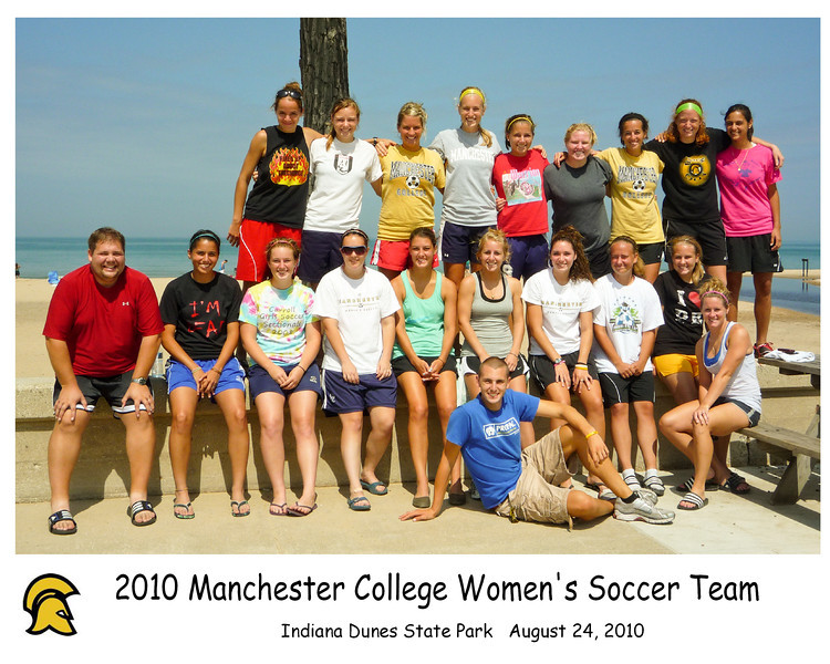 "Team 2010 - Coach Stout and the girls spent a day running ""The Dunes"""