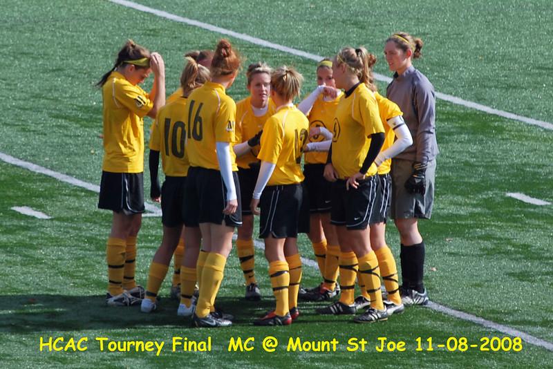 HCAC Tourney Final at Mount St Joe in 2008