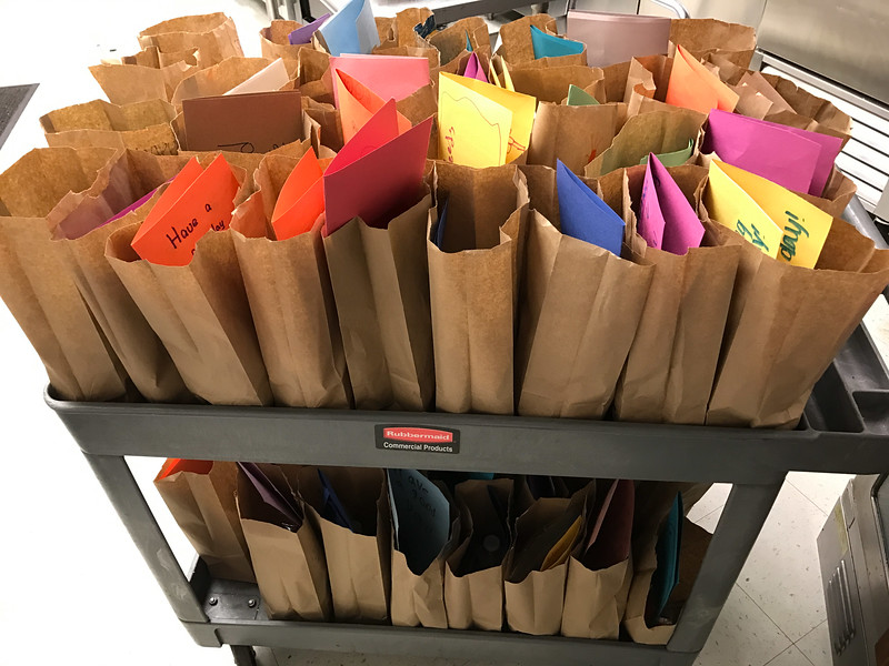 2017-04-02 GDD just a few of the bag lunches from Religious School to Shelter-